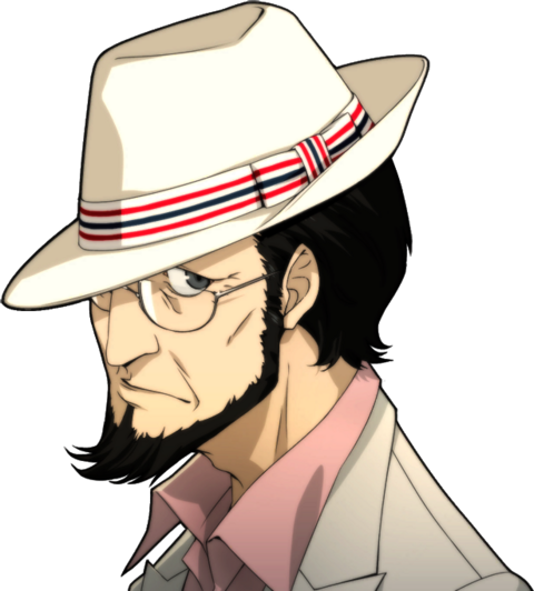 File:P5 portrait of Sojiro Sakura's casual attire with hat.png
