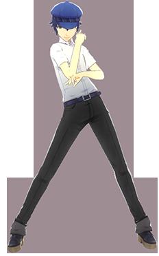 File:P4D Naoto Shirogane summer school uniform change.PNG