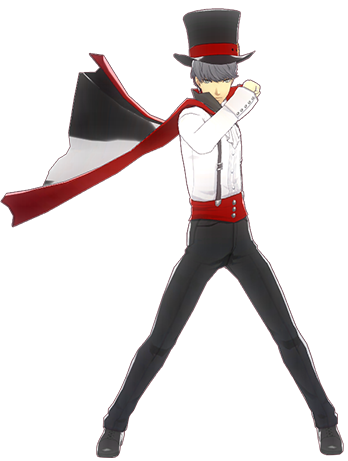 File:P4D Yu Narukami halloween outfit change.PNG