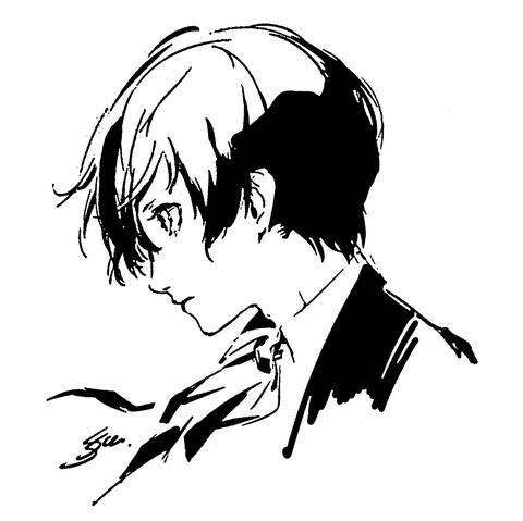File:P3M Sketch of Makoto Yuki by Shigenori Soejima.png