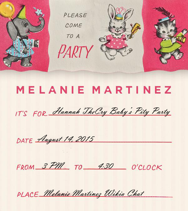 Pity Party Invite