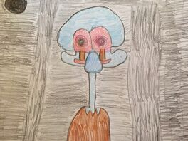 Squidwards suicide drawing By me