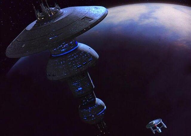 File:USS Enterprise approaches Earth Spacedock.jpg
