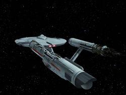 USS Constellation, aft damage