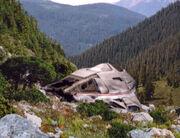 Delta Flyer crashed on Kelis' homeworld