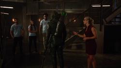 Green Arrow yells at his recruits