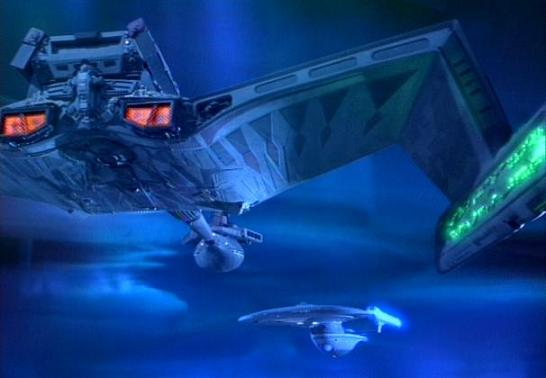 File:USS Excelsior and Kang's cruiser faceoff.jpg