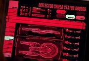 Deflector status display, Sovereign class