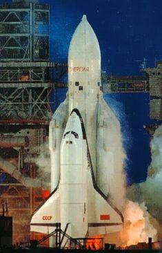 First Buran shuttle launch, 1988