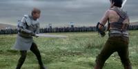 Duel between Arthur and Derian