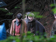 Colin Morgan and Alfie Stewart Behind The Scenes Series 5