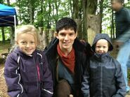 Colin Morgan and Fans Behind The Scenes Series 5