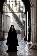 Gwen in cloak