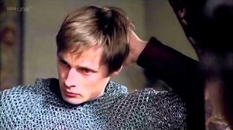 Merlin 4x03- Arhur and Gwen scene