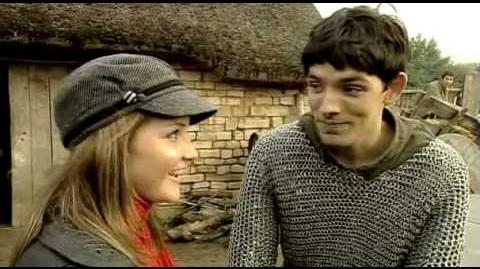 Colin Morgan - Blue Peter on set of BBC's Merlin