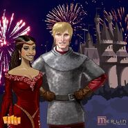King Arthur and Queen Guinevere Merlin Game