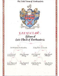 Lancelot's seal of nobility