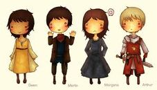 Merlin characters fan art