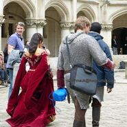 Angel Coulby and Bradley James Behind The Scenes Series 5-3