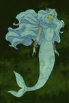 White Mermaid Painting