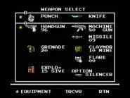Snakes revenge weapon screen