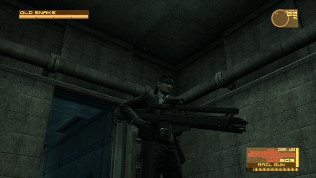 File:Snake using a Rail Gun (Metal Gear Solid 4).png