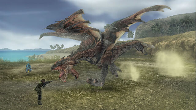 File:Rathalos vs Big Boss.jpg
