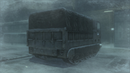 Back of the M548 in the ''Heliport'' (Metal Gear Solid 4)