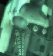 Submerged cyborg brain casing