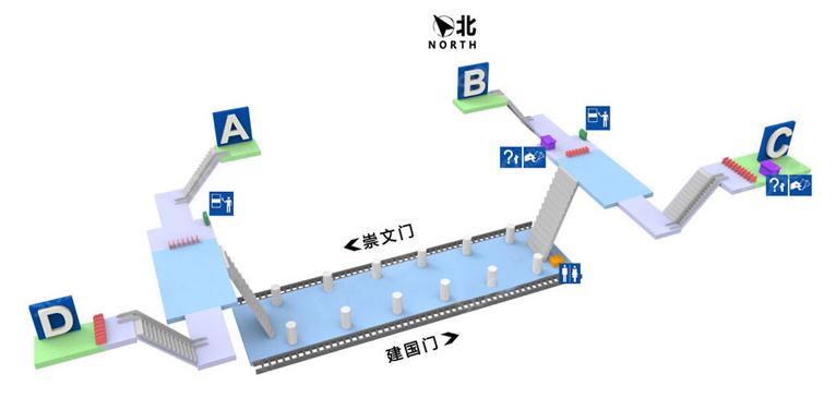 Beijing Railway Station BJ map