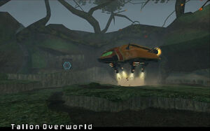 Samus Hunter Class Gunship Tallon Overworld Landing Site Dolphin HD.jpg