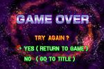 Metroid Fusion ~ Game Over Continue screen
