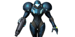 Dark Samus SSB4 costume render