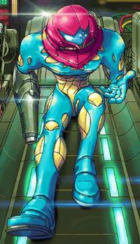 Samus in her new suit