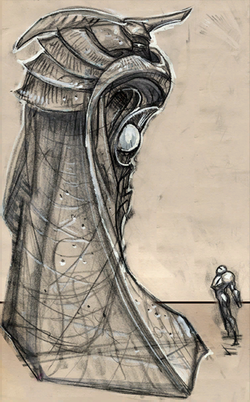 Luminoth Statue Concept art