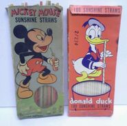 Mickey donald sunshine straws