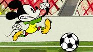Mickey and soccer