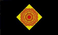 Red Lotus Island Flag