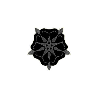 <center> Badge of the Order of the Black Rose <br /> For use by Members of the Order of the Black Rose</center>