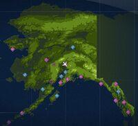 Tracks across Talkeetna Map