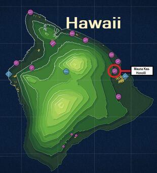 Mauna Kea-Honolii Map
