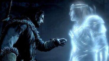 Talion conversing with Celebrimbor
