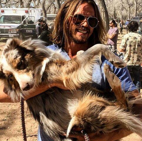 File:BTS Jason Lewis with dog.jpg