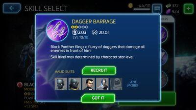 Dagger Barrage