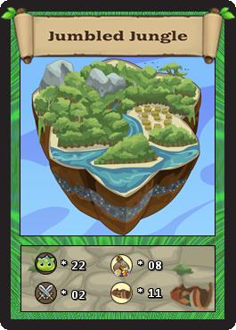 Jumbled jungle card