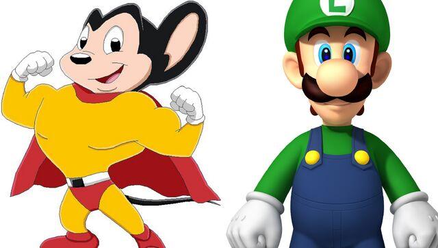 File:Mighty Mouse & Luigi.jpg
