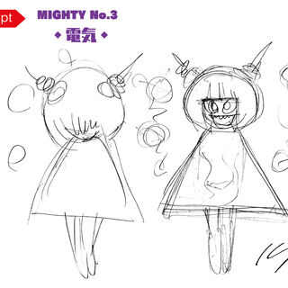 Inafune's sketch of Mighty No. 3