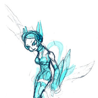 Original design sketch, inspired by figure skaters.