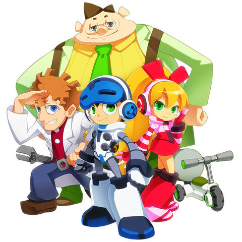 Concept artwork of Beck, Call, Dr White, and Dr Sanda as depicted in the animated series.