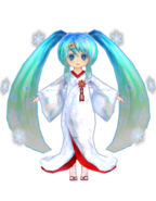 Miku Low Poly Snow 2013 by Ginjishi 2